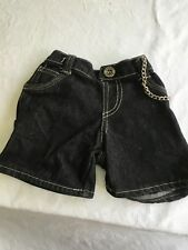 Build A Bear black denim shorts with chain