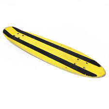 """Vintage Yellow & Black Striped Pipeline Metal Penny Board Skateboard Deck 23.40"""""""