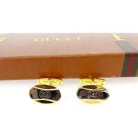 Gucci cuffs Interlocking Gold Silver Mens Authentic Used Y4827