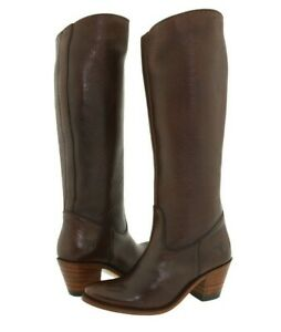 Frye Boots Womens Size 5.5 Brown Leather Cowboy Western Sandra Riding Dark Tall