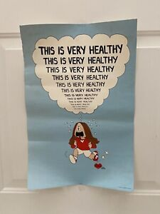 Vintage CATHY Comic Funny THIS IS VERYHEALTHY Exercise Poster