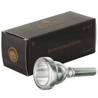 Cecilio Standard Baritone Horn Mouthpiece, Silver Plated, Size 6.5