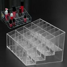 Acrylic Makeup Organizer Storage Case Cosmetic 24Lipstick Jewelry Display Holder
