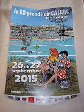 AFFICHE   La BD prend l'air   CAJARC 18e édition   illustration de Bruno Di Sano