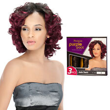 Outre Premium Purple Pack 3PCS Human Hair Blend Weaving Extension - Jade Swirl
