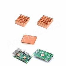 1 set 3pcs Copper Heatsink kit With Thermal Pad for Raspberry Pi 3 Model B