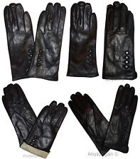 Woman's Gloves (XL) Leather Gloves Hand Warmer, Winter Ladies' Dress Gloves #18N