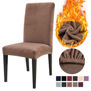 Velvet Dining Chair Covers Wedding Banquet Seat Cover Slipcovers Christmas Party