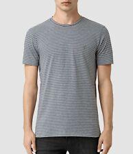 Allsaints Slim Fit Baltis Tonic Stripe Ramskull Embroidered Crew T-shirt  XXL