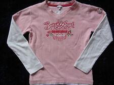 Mädchen Pullover Pulli Gr. 140 134 rosa weiß TCM 2in1 Look Sweater tchibo