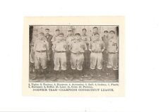 Norwich Reds 1906 Team Picture Tom Tuckey Baseball