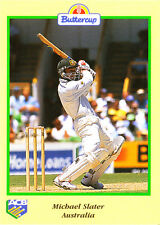 BUTTERCUP 1995 MICHAEL SLATER CARD Bat AUSTRALIA ACB Australian Cricket Board