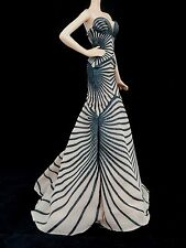 MODEL MUSE AUTHENTIC ZUHAIR MURAD FLOOR-LENGTH NUDE-HUED STRAPLESS GOWN DRESS