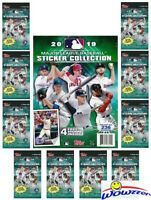 2019 Topps Baseball Stickers Collectors Package-10 Factory Sealed Packs+Album!