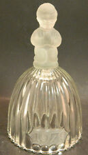 Vintage Goebel 1979 Clear Crystal Bell w/ Frosted Praying Boy Handle Excellent