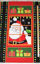 "Jolly Ole' St Nick Santa Christmas Henry Glass Fabric Panel  23""   #6750P"