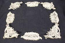 Lot of 8 Vintage Solid Brass Decorative FLORENTINE Antique Art Frame Mounts