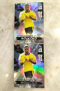 2020-21 Topps Chrome UEFA Champions League - Youssoufa Moukoko Joga Bonito RC x2
