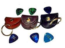 Guitar Pick Holder Key Ring Leather
