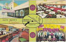 Singing Waiters Math Igler's Casino & Restaurant, Chicago,IL,Std Chrome Postcard