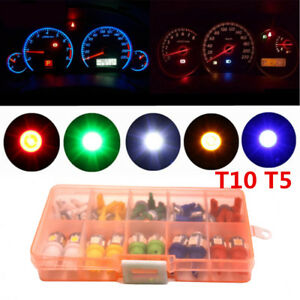 40PCS T10 T5 Bulb Car Dash Instrument Panel Cluster Gauge Light Insert 5050SMD