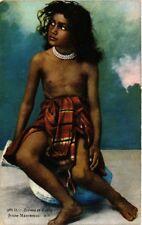 PC ETHNIC NUDE MAURESQUE FEMALE TYPE ALGERIA AFRICA Vintage Postcard (b708)