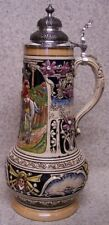 Beer Stein with lid Stoneware Soldier's Farewell 2 Liter NEW Made Germany boxed