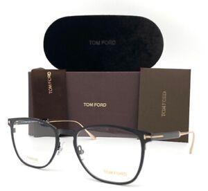 Tom Ford FT5483 001 Black Gold / Demo Lens  52mm Eyeglasses TF5483