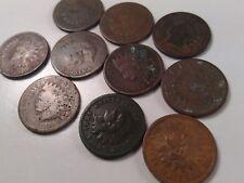 Lot Of 10 (Ten) Pre 1890 Indian Head Cent Pennies