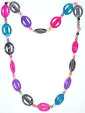 BIGIOTTERIA - Collana  c/perle di plastica multicolori