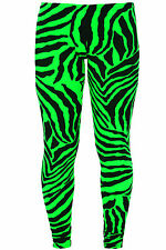 WOMENS PRINTED LEGGINGS PLUS SIZE XXL XXXL FLUORESCENT ZEBRA LEOPARD USA STRIPES