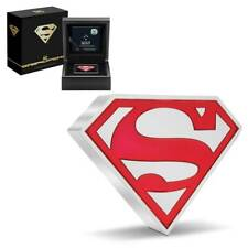 2021 - SUPERMAN Shield 1 oz .999 Silver Proof $2 Coin Niue DC Comics IN STOCK!!