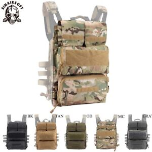 Tactical Airsoft Zipper Panel Pouch Bag Back Pack NG Ver for AVS JPC 2.0 Vest