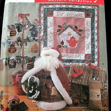 "Dianna Marcum Pattern wallhanging mini quilt 16"" Santa Christmas Ornament"