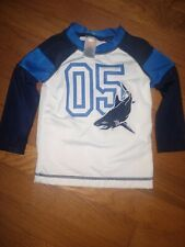 Gymboree Long Sleeve Shark Swim Shirt 12-18 Mths