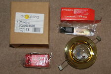 *** JOB LOT OF 18 NEW BRASS EYEBALL DOWNLIGHTS LOW VOLTAGE WITH TRANSFORMERS ***
