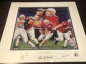 Rare 1997 Huskers Nebraska Husker Print Poster Peter Frost Osborne Signed W/LOA
