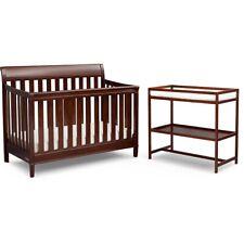 Delta Children Harbor 4 In 1 Convertible Crib & Changing Table Set, Espresso Tru