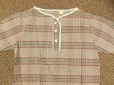 Deadstock NEW Vtg '60s Fall Season Plaid Pullover Shirt Juniors XS/S 7/8 Hipster