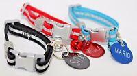 Luxury Kitten collar bell, safety Breakaway Collar & Optional Engraved ID tag