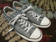 CONVERSE ALL STAR LOW TOP WOMENS 9  BLACK WHITE Upholstery Material
