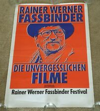 ULTRA RARE ORIG 1980s Rainer Werner Fassbinder Film Festival German Movie Poster