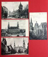 4 x AK AACHEN um 1910 Hauptpostgebäude Post, Rathaus, Ratschhof und Dom   ( 8242