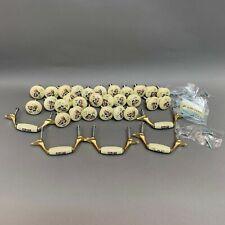 Vintage Ceramic Cabinet Drawer Round Knobs Pulls Handles House Lot of 33