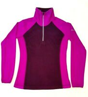 Columbia Sportswear Womens Jumper Size XS Fuchsia Wine Half Zip Fleece Jacket