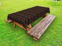 African Outdoor Picnic Tablecloth in 3 Sizes Decorative Washable Waterproof