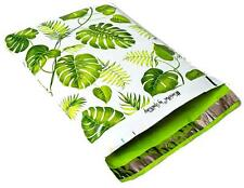 50 10x13 Banana Leaves Designer Mailers Poly Shipping Envelopes Boutique Bags