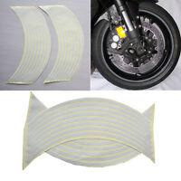 "18""  Wtite Stickers Reflective Car Motorcycle Rim Stripe Wheel Tape Decal  SN"