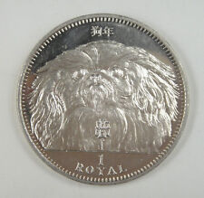 New listing Gibraltar Coin One Crown, 1994, Almost Uncirculated, Year of the Dog