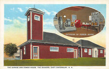 East Canterbury NH The Garage & Power House Shaker Village Postcard